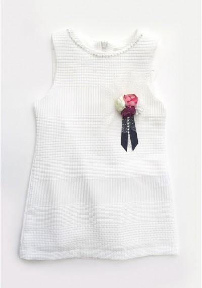 Beatles 60's φόρεμα,άσπρο
